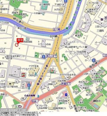 【地図】シンシア白金山北ホームズ