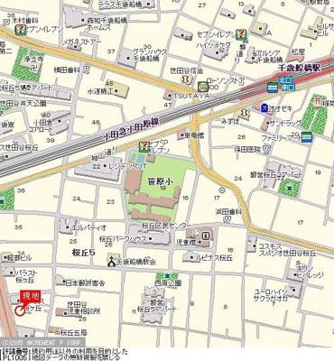 【地図】ビバリーホームズ千歳船橋