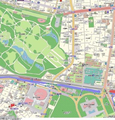 【地図】アクシア千駄ケ谷