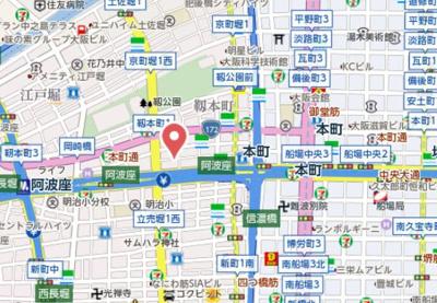 【地図】エスライズ西本町Ⅱ