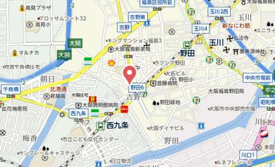 【地図】オズレジデンス福島