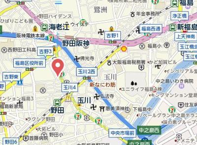 【地図】メゾン西梅田