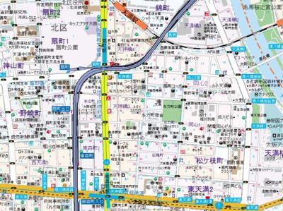 【地図】アスヴェル南森町