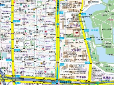 【地図】スワンズシティ大手前ソレイユ