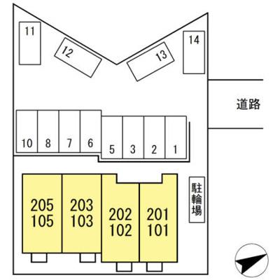 【区画図】(仮)D-room藤川町