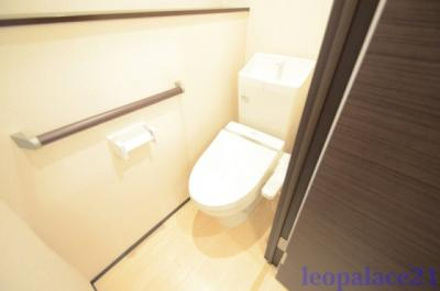 温水シャワー付きトイレです