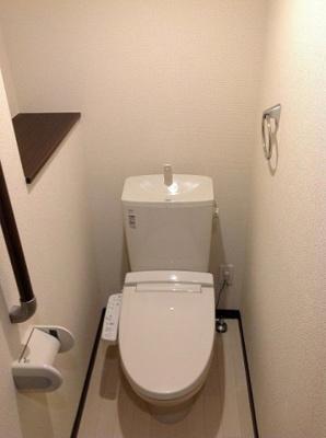 温水便座付きトイレ