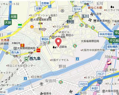 【地図】ディクス福島レジデンス