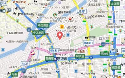 【地図】ブリーズガーデン京町堀