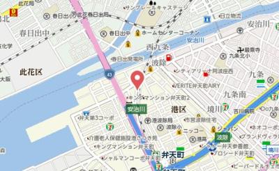 【地図】アドバンス大阪ベイシティ