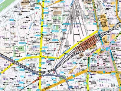 【地図】スワンズシティ梅田ウエスト