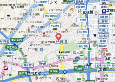 【地図】藤の邸 京町堀