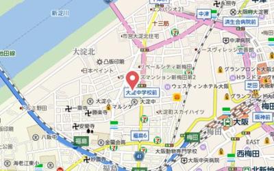 【地図】BPRレジデンス新梅田