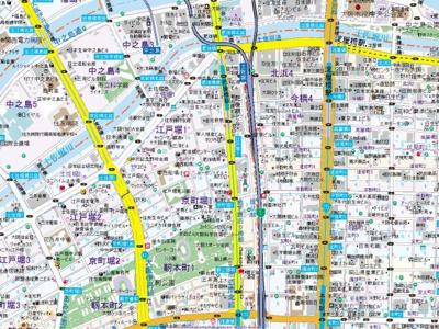 【地図】コンフォリア京町堀
