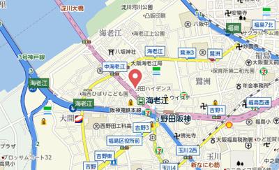 【地図】ルミナール海老江