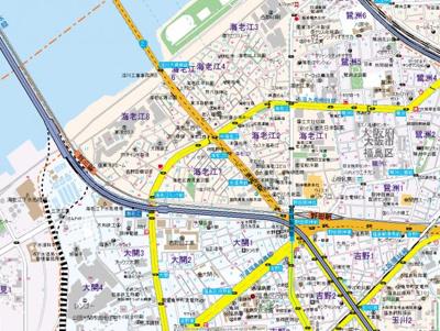 【地図】ルミエール海老江Ⅱ