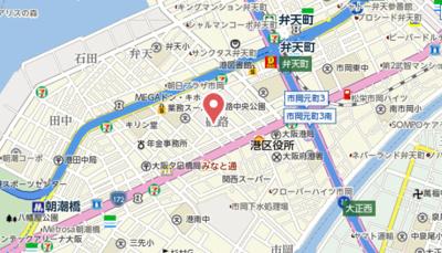 【地図】ラグゼ弁天町