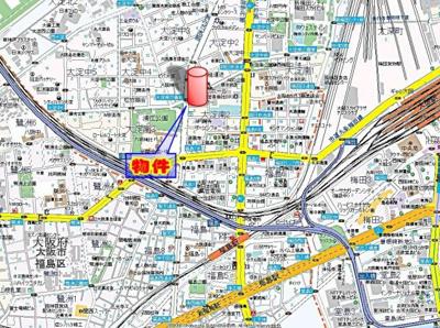 【地図】サンシャイン西梅田
