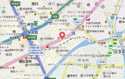 【地図】レオンヴァリエ大阪ベイシティ