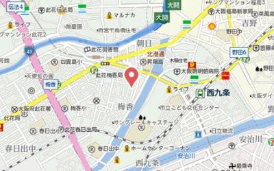 【地図】Gracia西九条