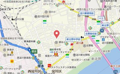 【地図】プルス塚本ドゥーエ