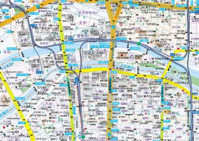 【地図】サムティ土佐堀リベラ