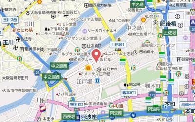 【地図】サムティ江戸堀ASUNT