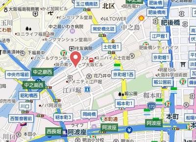 【地図】アコード中之島