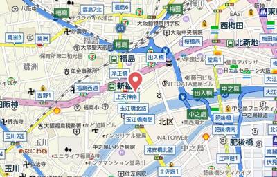 【地図】D-Rest 中之島
