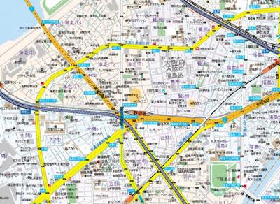 【地図】プレサンス野田阪神駅前ザ・プレミアム