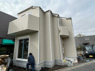 【前面道路含む現地写真】八潮市緑町5丁目新築戸建て