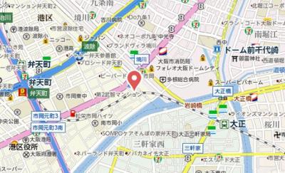 【地図】エスライズ大阪ドームレジデンス