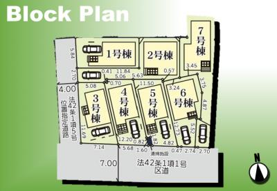 【区画図】足立区六月3丁目新築戸建て【全7棟】