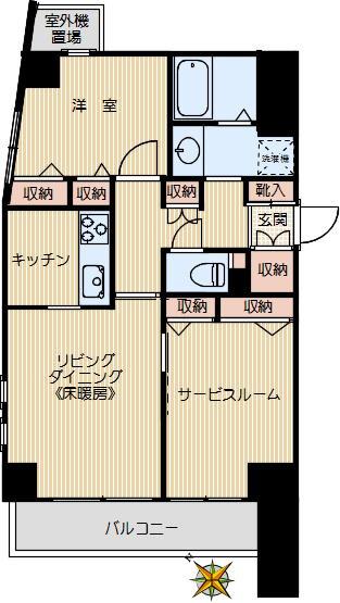 使いやすい、洋室が分かれたタイプです。