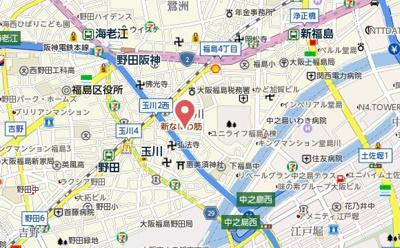 【地図】アパートメント玉川