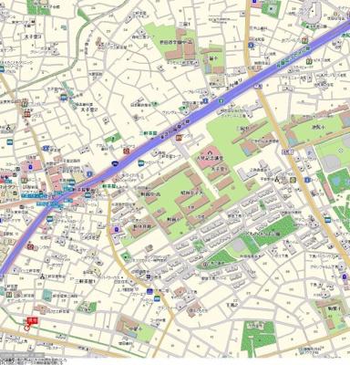 【地図】メトリブ三軒茶屋