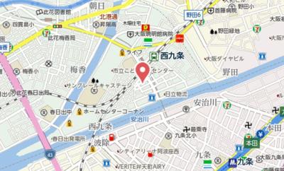 【地図】ヴェッセル西九条