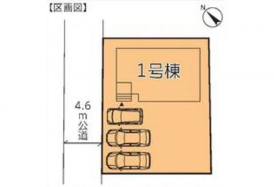 【区画図】リーブルガーデン第13野木友沼