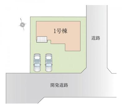 前面道路は6m幅となっており、車の出し入れもしやすい開発道路となっています