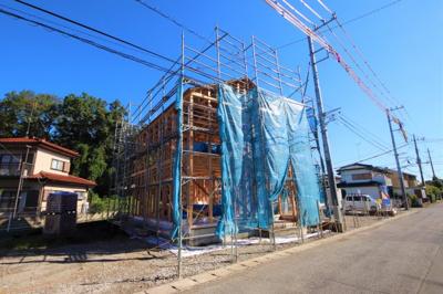 (撮影10月2日) 1号棟~4号棟 建築現場 前面道路等