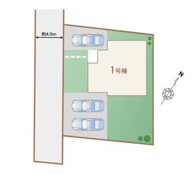 【区画図】ハートフルタウン宇都宮市上戸祭四丁目2期