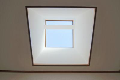 2階の天井に光を取り込む天窓があります。