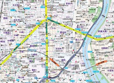 【地図】エスリード天神橋筋六丁目