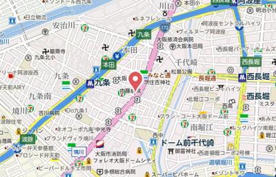 【地図】レオンコンフォート九条ガレリア