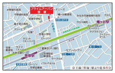 【地図】プライムアーバン笹塚