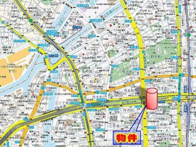 【地図】アーデンタワー西本町