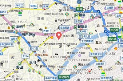 【地図】エスリード新福島