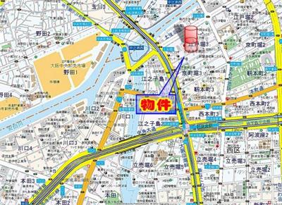 【地図】メゾンフロールIMAKUBO
