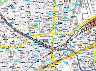 【地図】リーガル北梅田