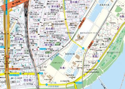 【地図】サウスフラット